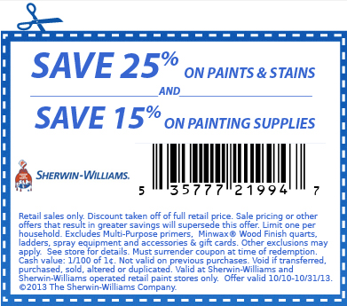 Sherwin Williams Paint Coupon | 2017 - 2018 Best Cars Reviews